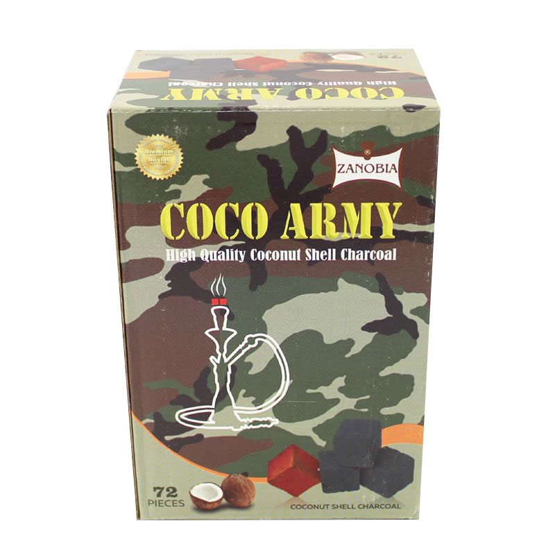 Coco Army Coconut Charcoal (72 pieces - Cubes)