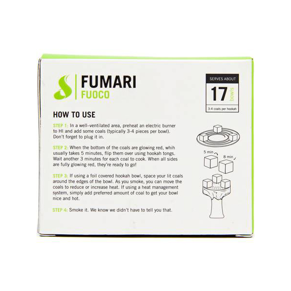 Fumari Fuoco Charcoal - 112 Piece Box