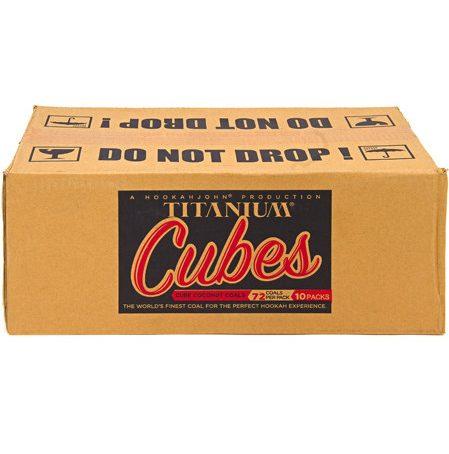 Titanium Cube Coals - 10 KG Lounge Box