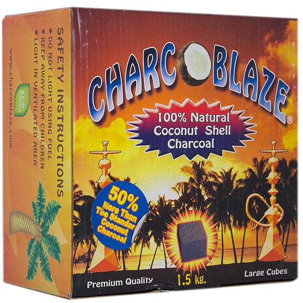 CharcoBlaze Large Cube Coconut Coals - 1.5 KG