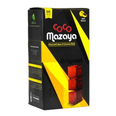 Coco Mazaya Natural Hookah Coals (96 CUBE Pieces)