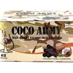 Coco Army Coconut Charcoal (62 pieces - Hex)