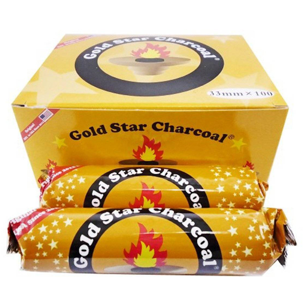 Gold Star Charcoals 33mm - 1 box (100 pieces)