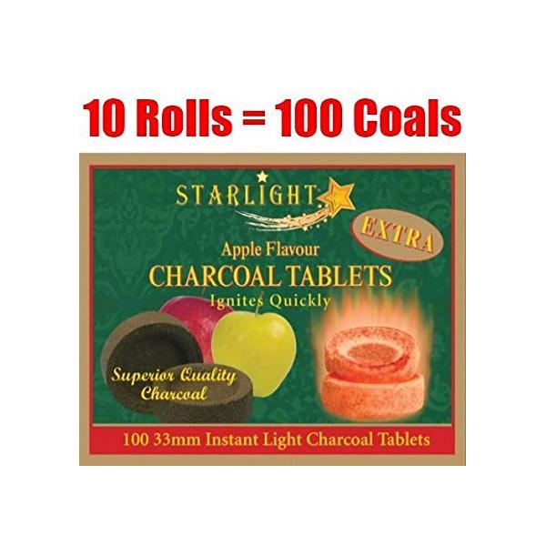 Starlight Apple Flavor Charcoals 33mm - 1 box (100 pieces)