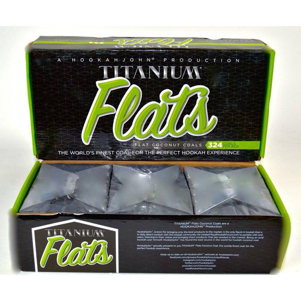 Titanium Coconut Coal TITAN Pack 3Kg Box FLATS