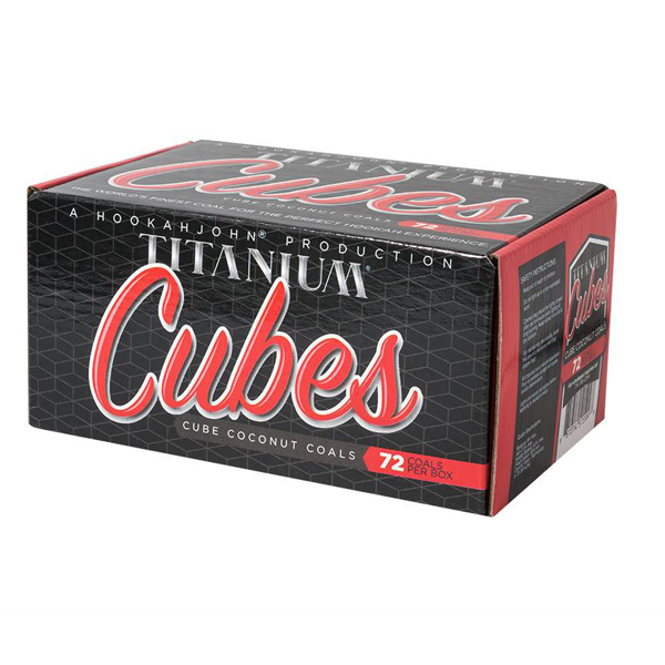 12 Pack (12 x 72 piece boxes of Titanium CUBES Hookah Coals)