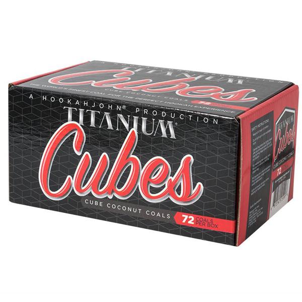 Titanium Hookah Coals - 72 Charcoal Cubes